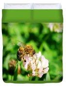 Clover Bee Duvet Cover