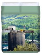 Coal Mine Electrical Energy Power Plant In Nature Duvet Cover