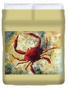 Coastal Crab Decorative Painting Original Art Coastal Luxe Crab By Madart Duvet Cover