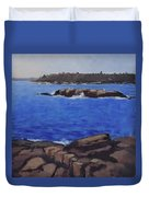Coastal Waters Of Maine - Art By Bill Tomsa Duvet Cover