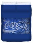 Coca Cola Blues Duvet Cover