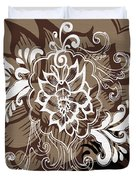 Coffee Flowers 10 Duvet Cover