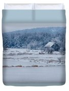 Cold Blue Snow Duvet Cover