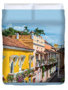 Colonial Balconies Duvet Cover
