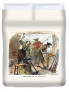 Colonial Blacksmith, 1776 Duvet Cover