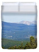 Colorado Continental Divide 5 Part Panorama 5 Duvet Cover