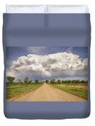Colorado Country Road Stormin Skies Duvet Cover