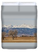 Colorado Front Range Continental Divide Panorama Duvet Cover
