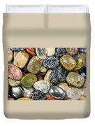 Colored Polished Rocks Duvet Cover