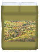 Colorful Autumn Forest In Mount Blue State Park Weld Maine Duvet Cover