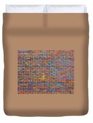 Colorful Brick Wall Texture Duvet Cover