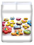 Colorful Cookies Duvet Cover