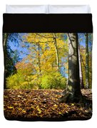 Colorful Fall Autumn Park Duvet Cover