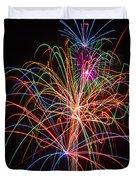 Colorful Fireworks Duvet Cover