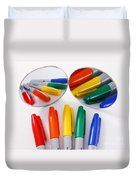 Colorful Markers Duvet Cover