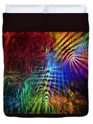 Colorful Psychedelic Abstract Fractal Art Duvet Cover