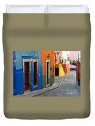 Colorful Street, Mexico Duvet Cover