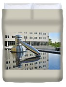 Columbus Ohio Justice Center Duvet Cover by Frozen in Time Fine Art Photography