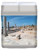Columns In Archaeological Site Duvet Cover