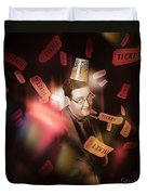Comedy Entertainment Man On Theater Stage Duvet Cover