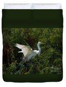 Common Egret Duvet Cover