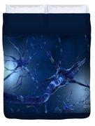 Conceptual Image Of Neuron Duvet Cover