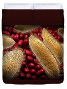 Conceptual Image Of Paramecium Duvet Cover by Stocktrek Images
