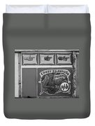 Coney Island Alive In Black And White Duvet Cover