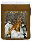 Congratulations  Duvet Cover