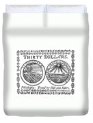 Continental Banknote, 1776 Duvet Cover