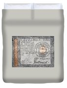 Continental Currency, 1779 Duvet Cover