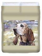 Coonhound - Pumpkin Duvet Cover