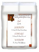 1 Corinthians 13 13 Find Serenity With Faith Hope And Love Duvet Cover