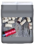 Corks With Bottle Duvet Cover