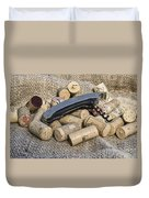 Corks With Corkscrew Duvet Cover