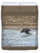 Cormorant Water Takeoff Duvet Cover