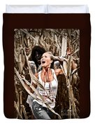 Corn Field Horror Duvet Cover