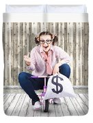 Corrupt Business Thief In A Smart Stealing Scam Duvet Cover