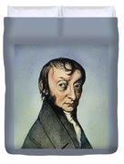Count Amedeo Avogadro (1776-1856) Duvet Cover