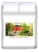Covered Bridge In Autumn Fairmount Park Philadelphia Duvet Cover