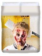 Crazy Sick Monster Eating Gmo Food Duvet Cover