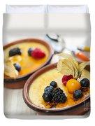 Creme Brulee Dessert Duvet Cover