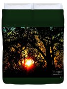 Creole Trail Sunset Duvet Cover