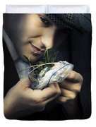 Criminal With Weeds And Green Grass Duvet Cover