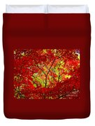 Crimson Window Duvet Cover