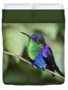 Crowned Woodnymph Hummingbird Male Duvet Cover