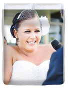 Crying And Laughing Bride Duvet Cover