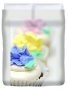 Cupcakes Shallow Depth Of Field Duvet Cover