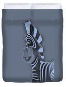 Cyan Zebra Duvet Cover