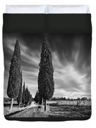 Cypress Trees- Tuscany Duvet Cover